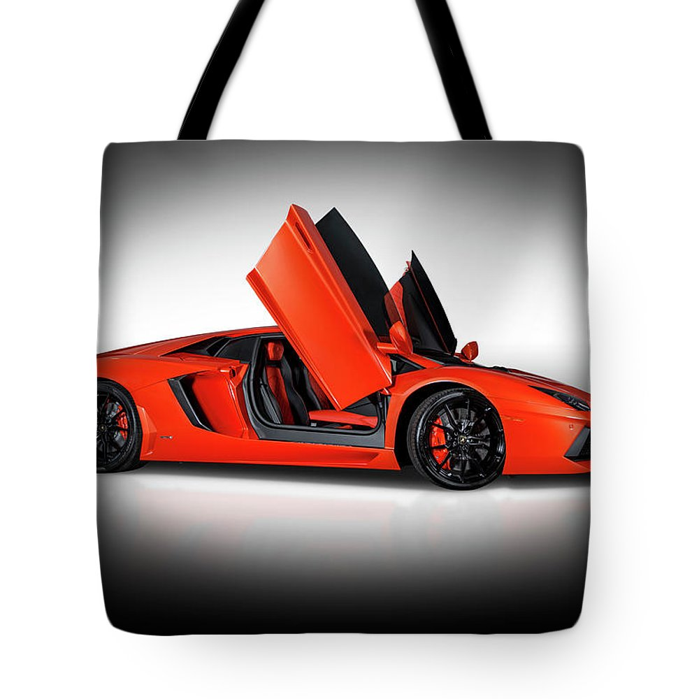 Lamborghini Tote Bag featuring the photograph Lamborghini Aventador Doors Up by Bill Brock  sc 1 st  Fine Art America & Lamborghini Aventador Doors Up Tote Bag for Sale by Bill Brock