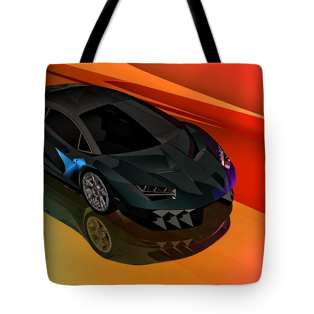 Lamborghini Centenario Drawing Tote Bag For Sale By Andrei Sky