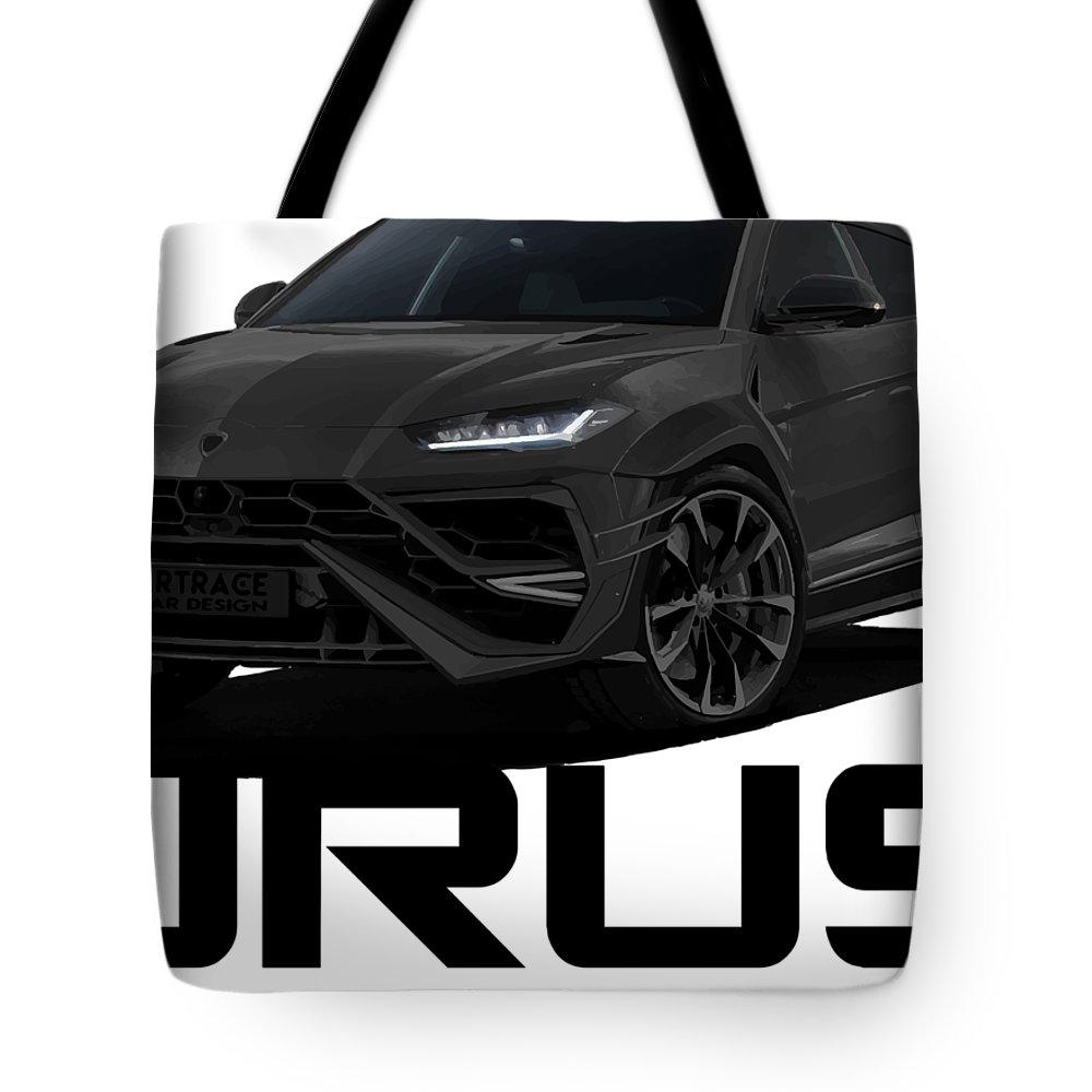 Lamborghini Urus Carbon Car Design Black Project Tote Bag For Sale