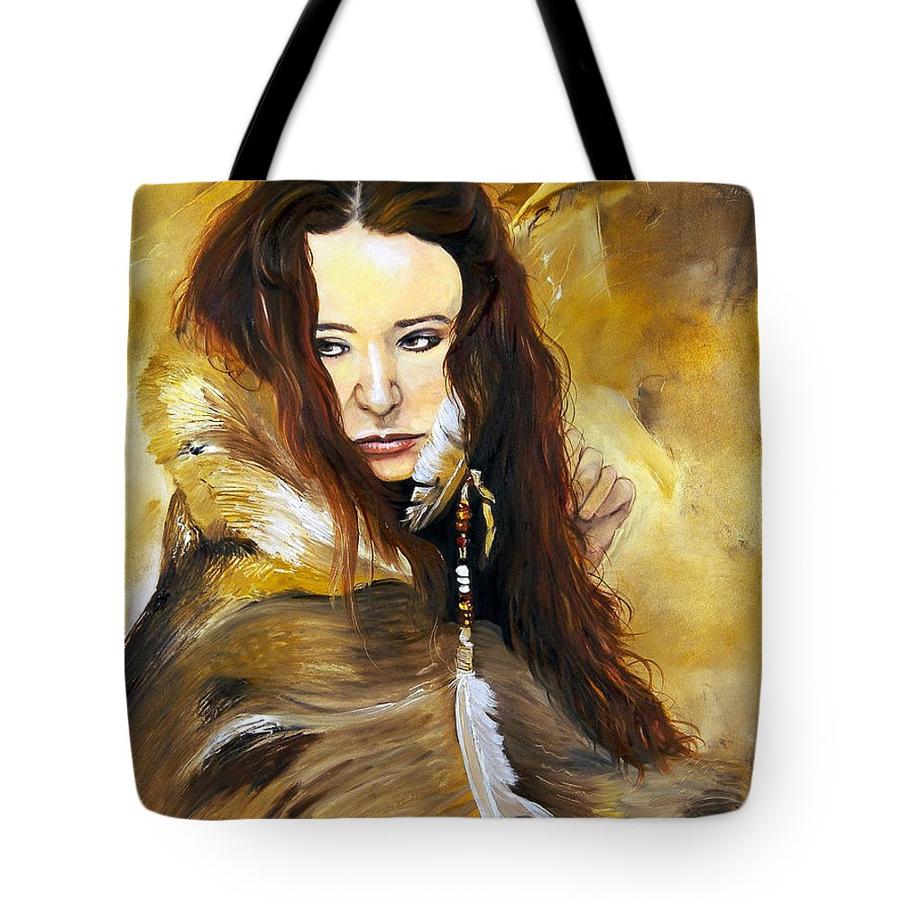 Southwest Art Tote Bag featuring the painting Lament by J W Baker