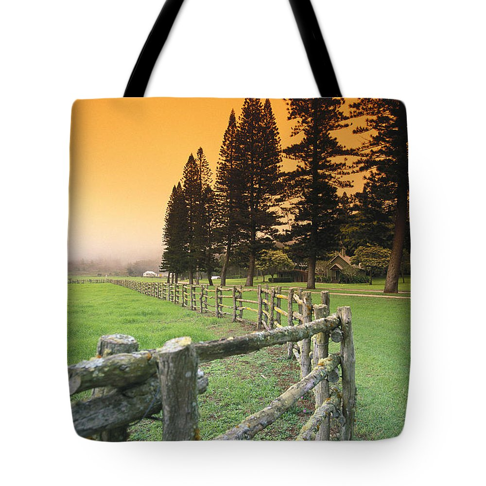 Across Tote Bag featuring the photograph Lanai, City View by Ron Dahlquist - Printscapes