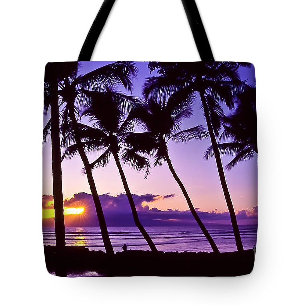 Landscapes Tote Bag featuring the photograph Lanai Sunset by Jim Cazel