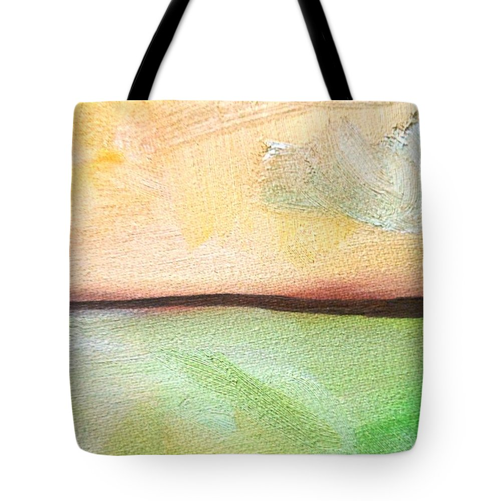 Truck Tote Bag featuring the painting Land Before Time by Lord Frederick Lyle Morris - Disabled Veteran
