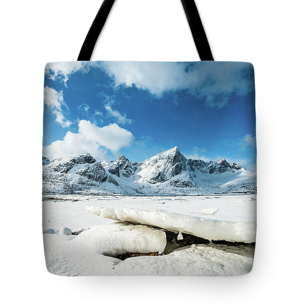 Norway Tote Bag featuring the photograph Land Of Ice And Snow by Adrian Salcu