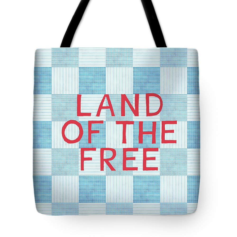 Land Of The Free Tote Bag featuring the painting Land Of The Free by Linda Woods