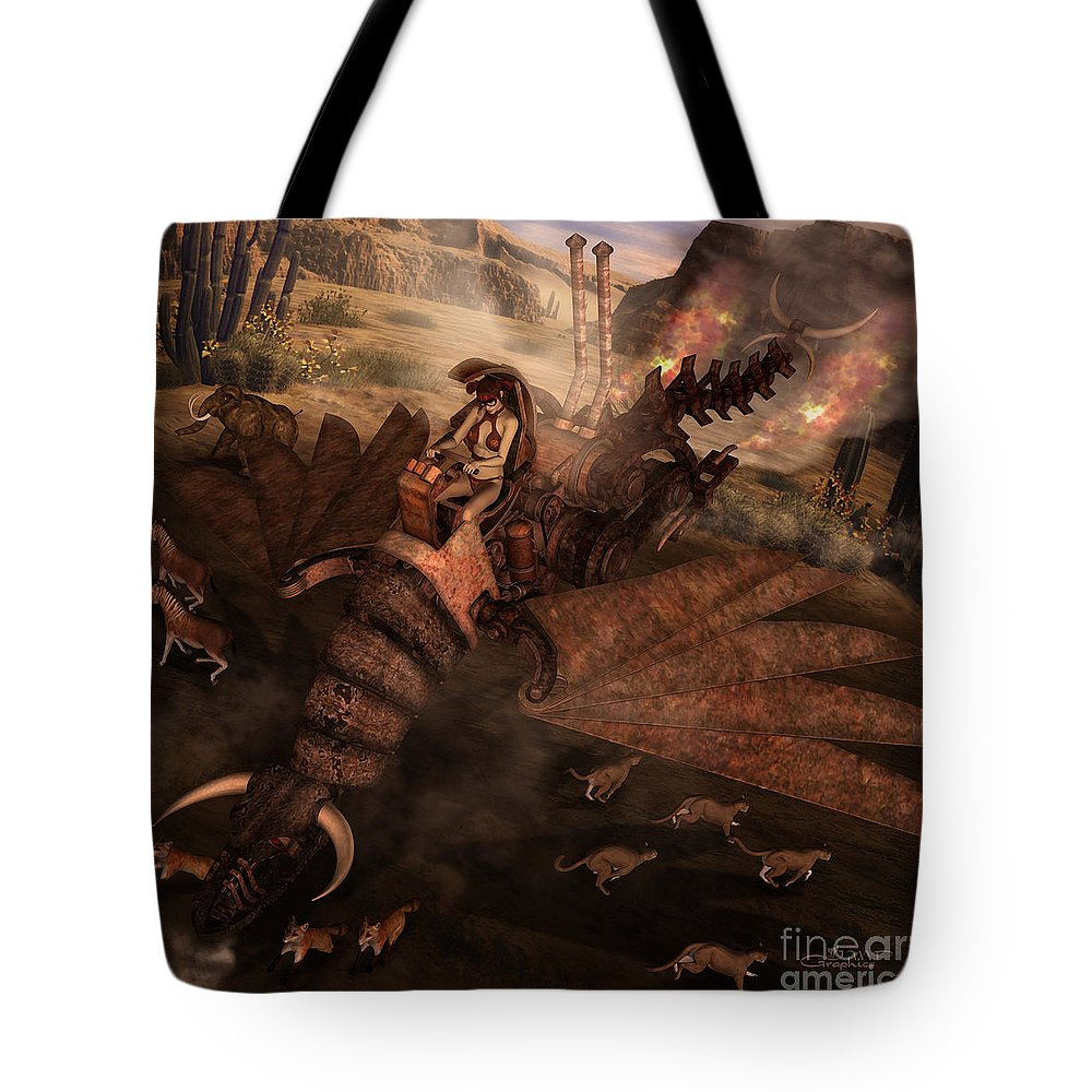 3d Tote Bag featuring the digital art Landing Approach by Jutta Maria Pusl