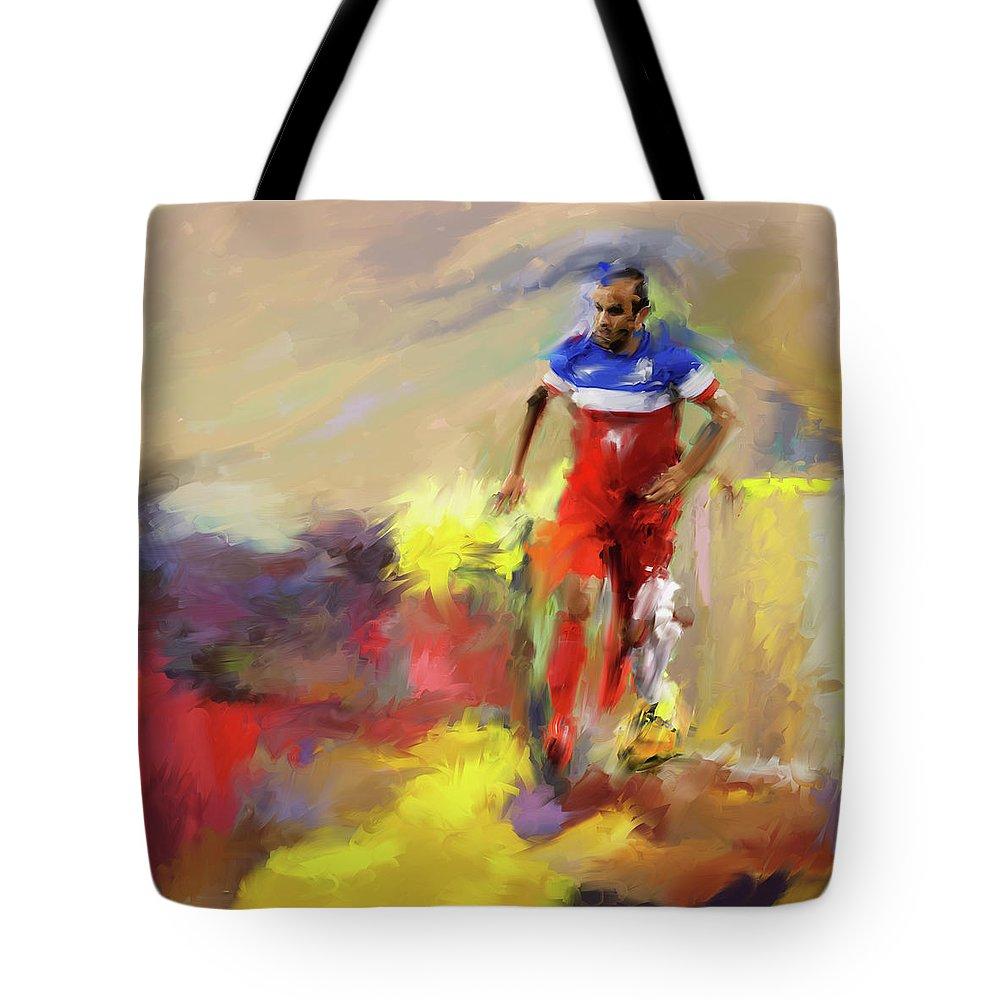 Landon Donovan Tote Bags