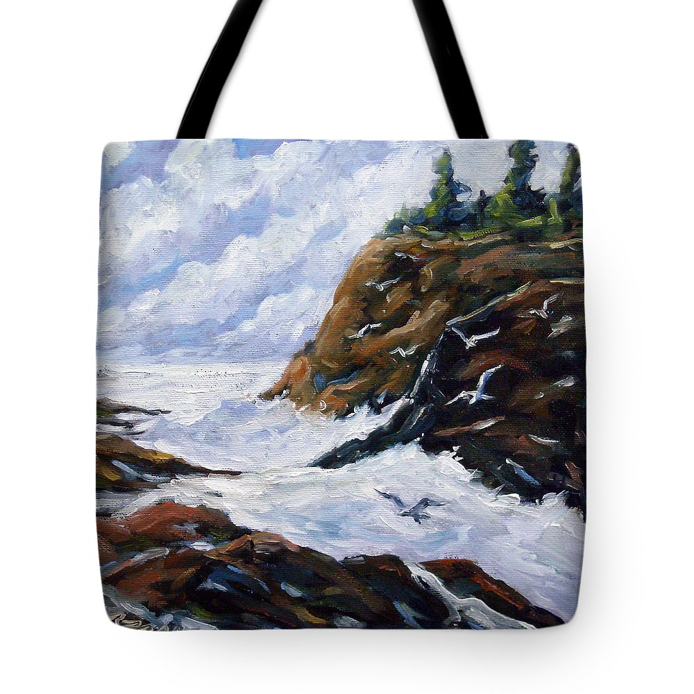 Art Tote Bag featuring the painting Lands End by Richard T Pranke