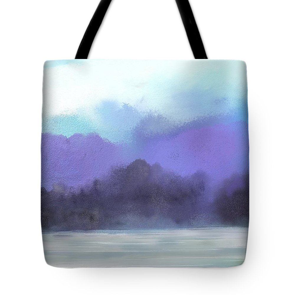 Digital Painting Tote Bag featuring the digital art Landscape 02-19-10 by David Lane