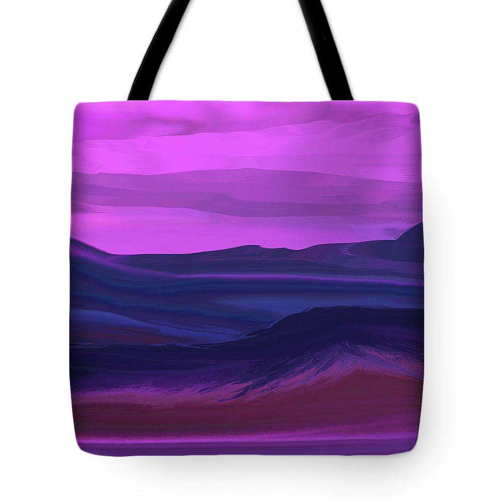 Fine Art Tote Bag featuring the digital art Landscape 022011 by David Lane