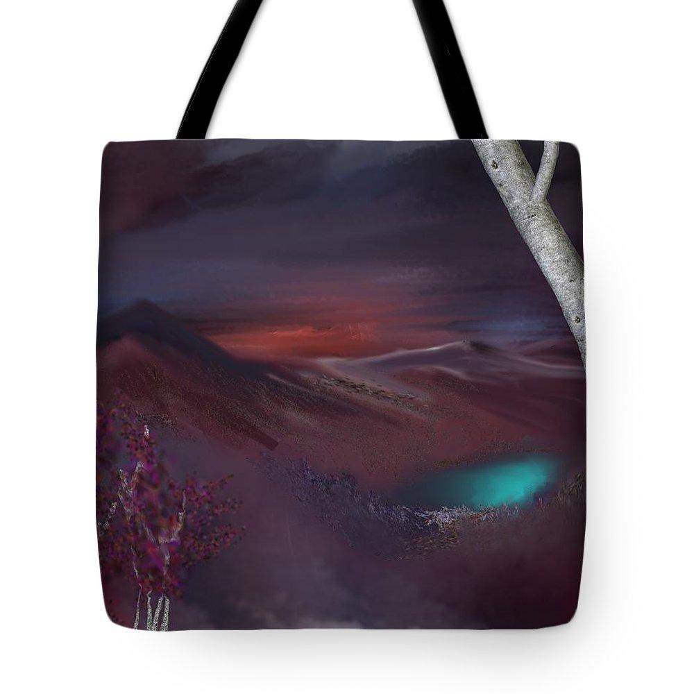 Fine Art Tote Bag featuring the digital art Landscape 030711 by David Lane