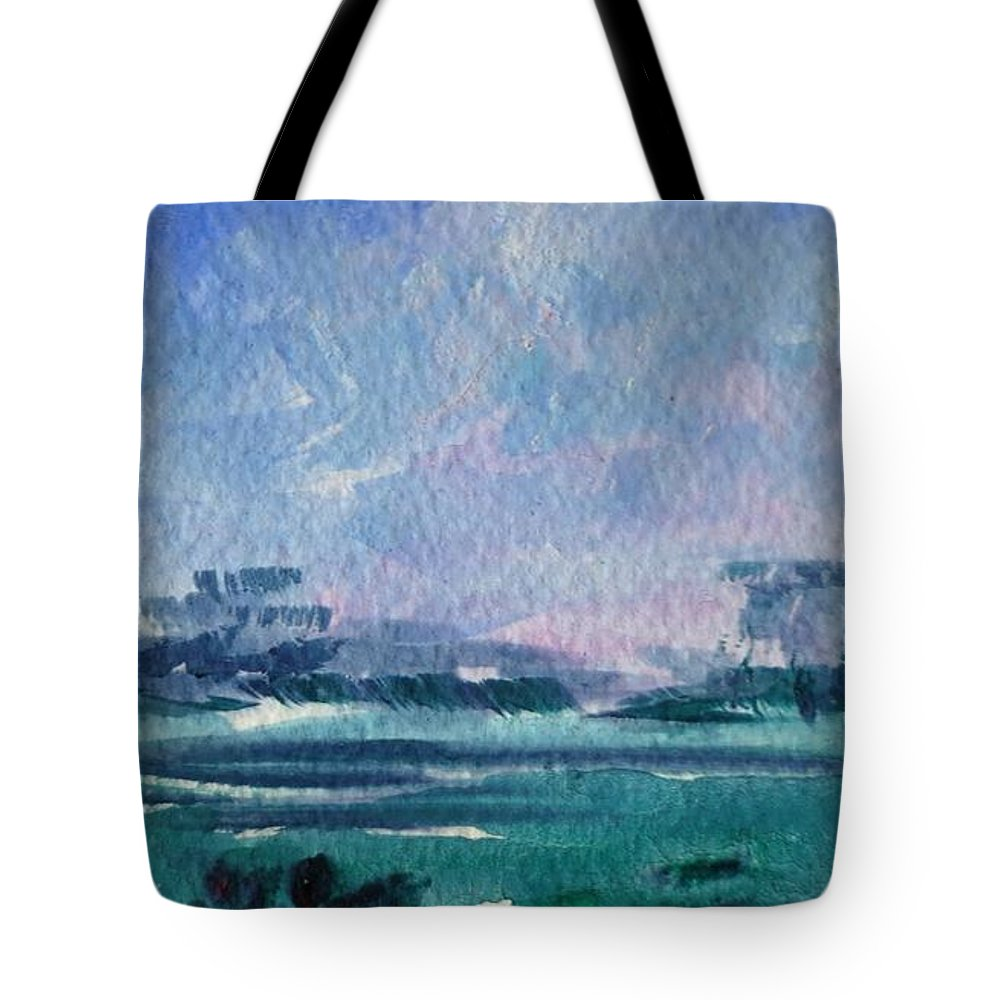 Landscape Tote Bag featuring the painting Landscape by Angelina Whittaker Cook