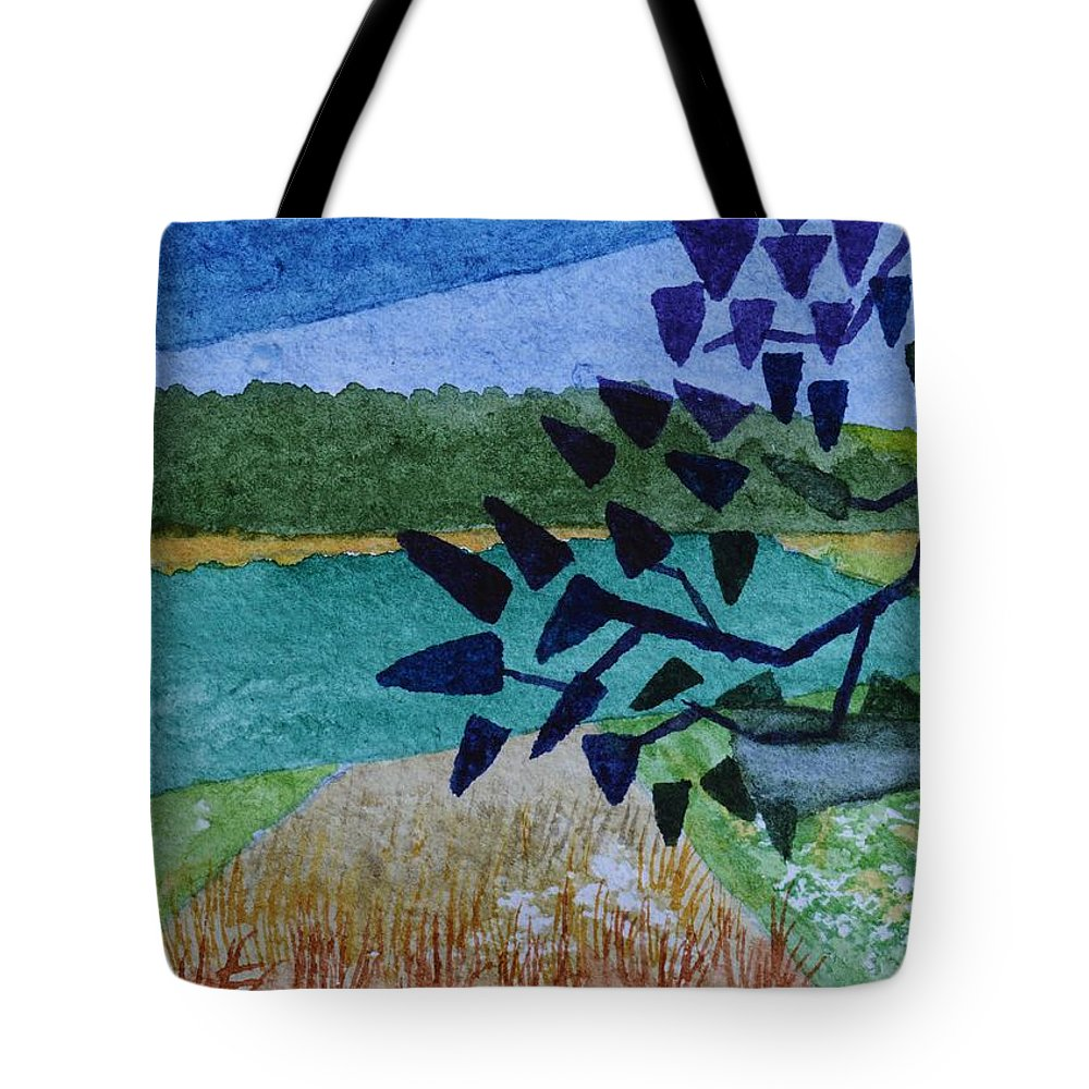 Landscape Angles Tote Bag featuring the painting Landscape Angles by Warren Thompson