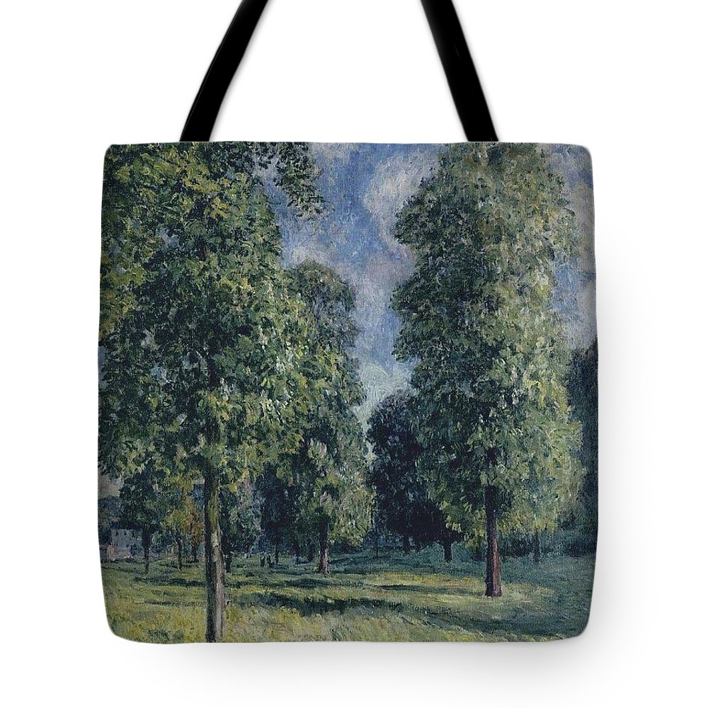 Landscape At Sevres Tote Bag featuring the painting Landscape At Sevres by MotionAge Designs