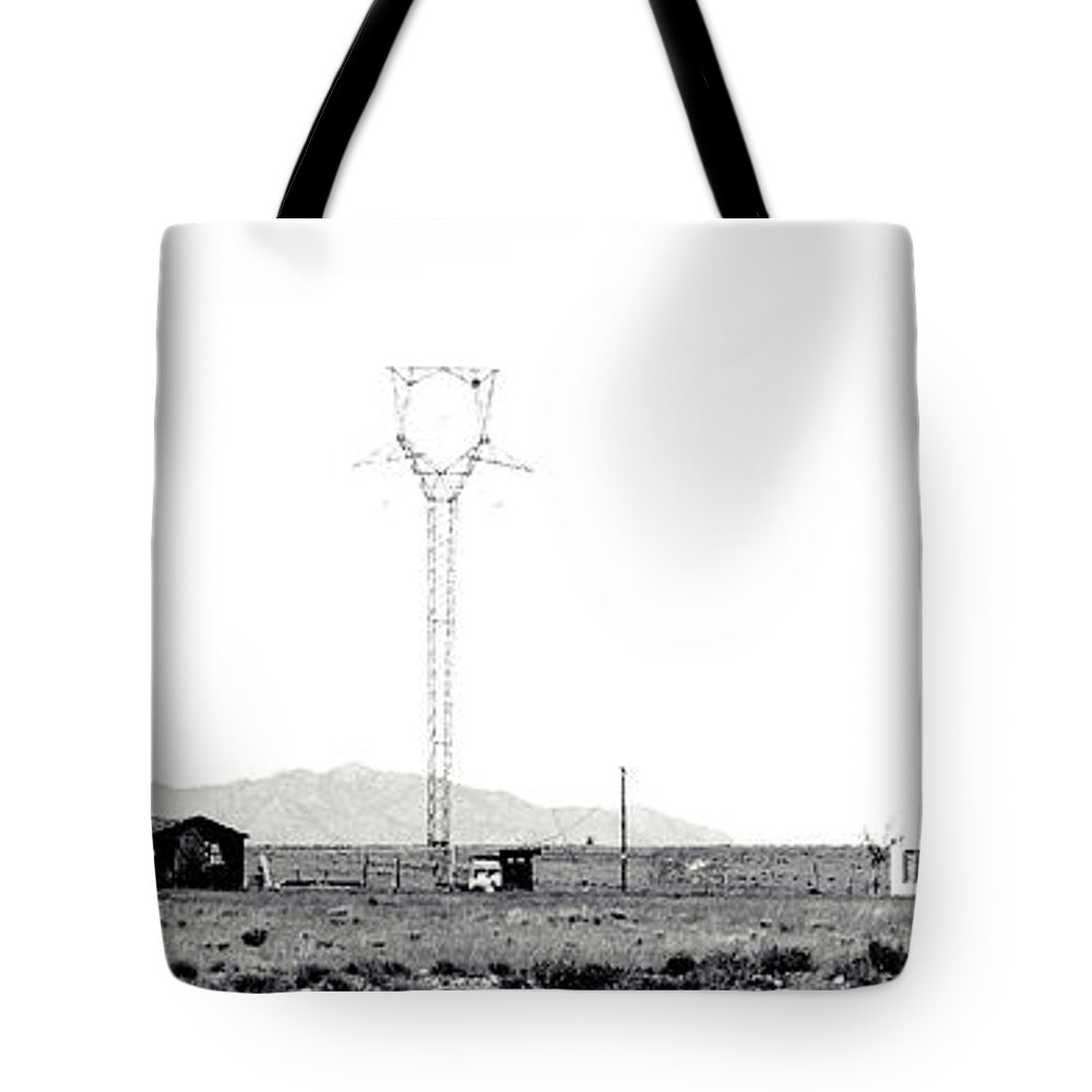 Calisteo Tote Bag featuring the photograph Landscape Galisteo Nm H10d by Otri Park