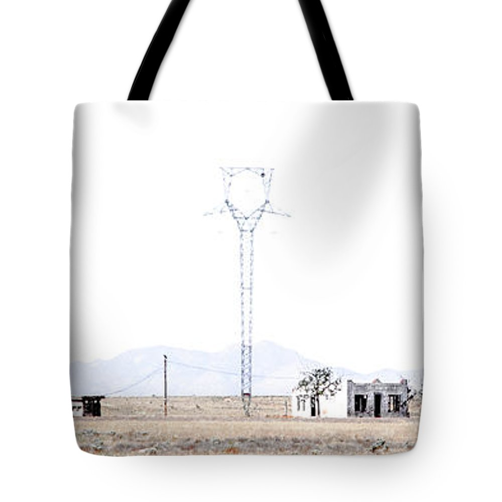 Calisteo Tote Bag featuring the photograph Landscape Galisteo Nm H10f by Otri Park