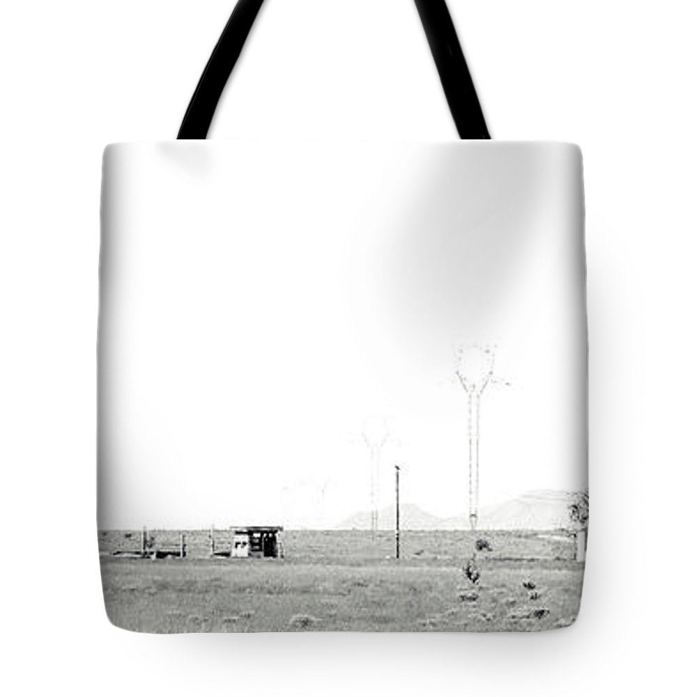 Calisteo Tote Bag featuring the photograph Landscape Galisteo Nm H10m by Otri Park