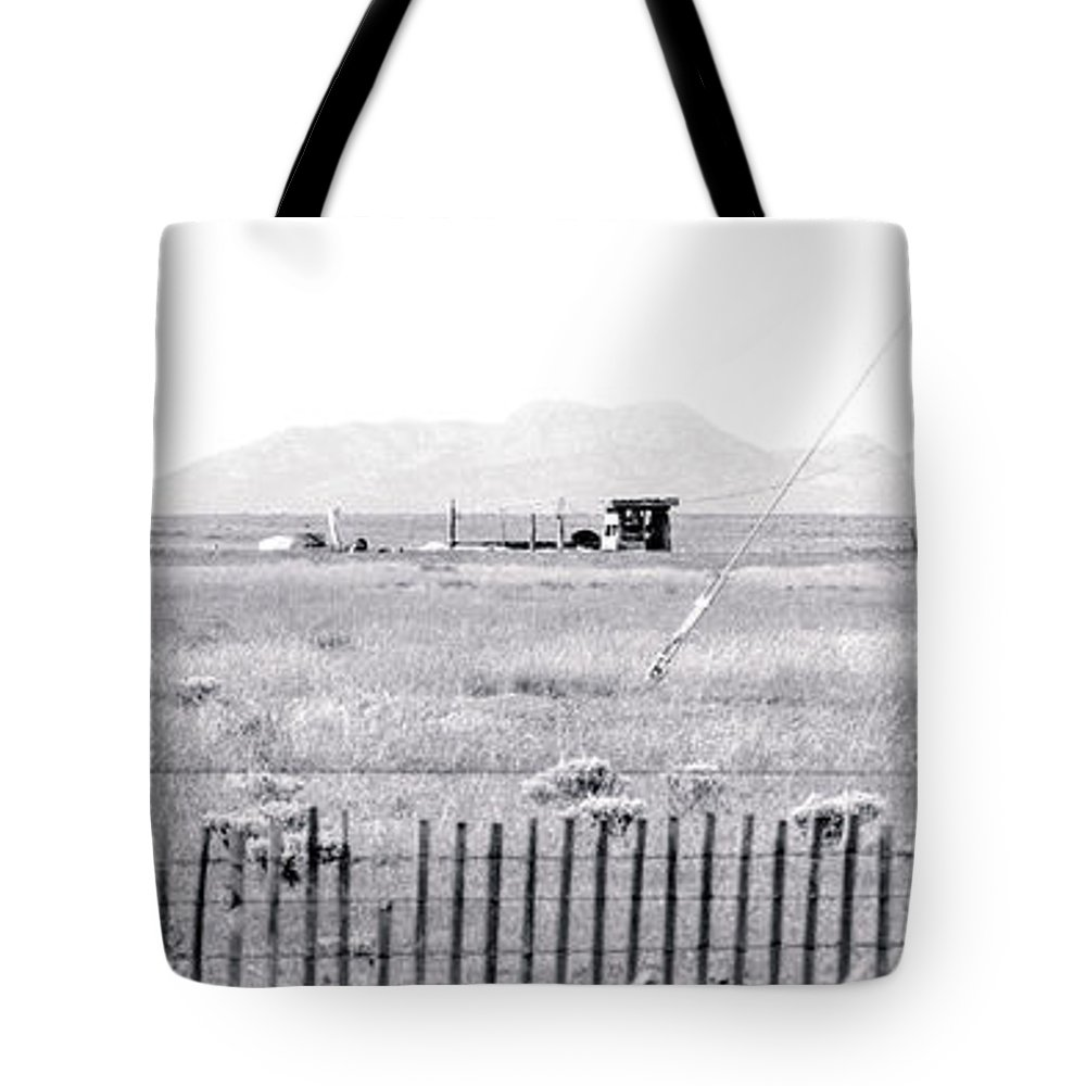 Calisteo Tote Bag featuring the photograph Landscape Galisteo Nm H10r by Otri Park