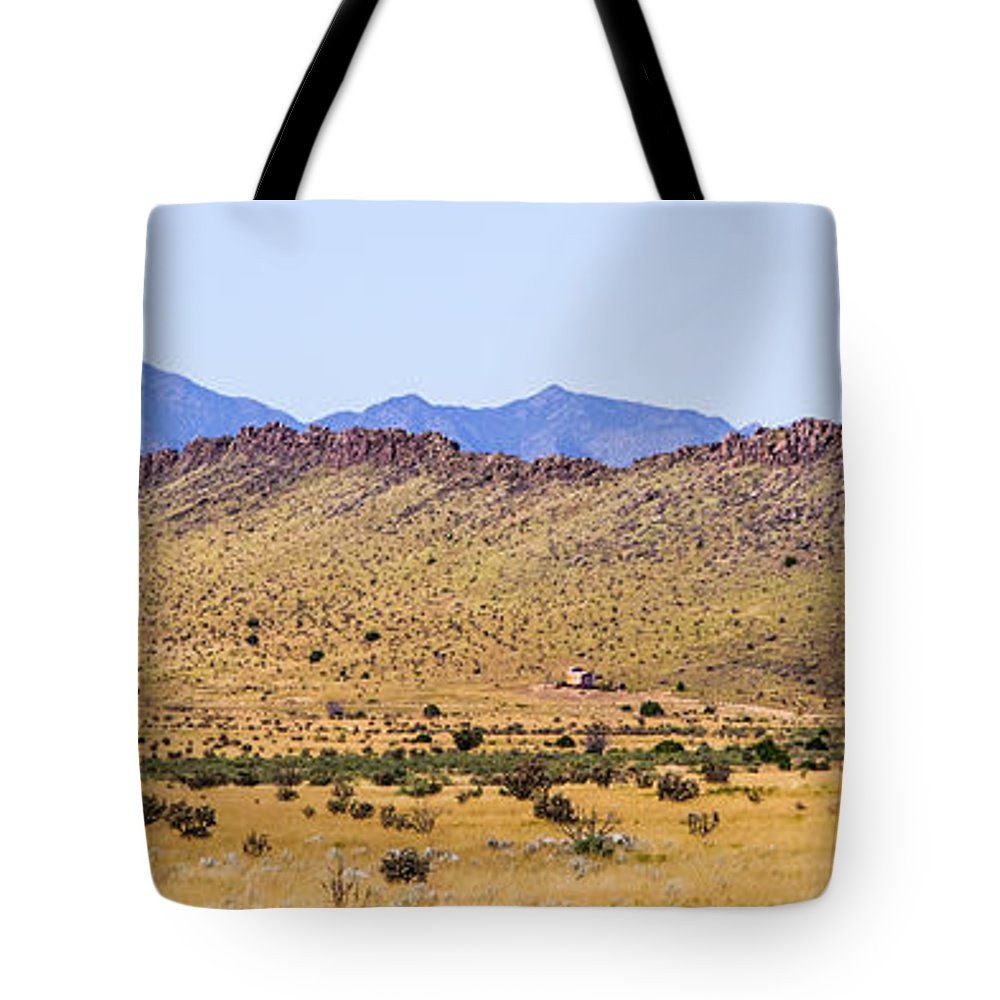 Calisteo Tote Bag featuring the photograph Landscape Galisteo Nm I10n by Otri Park
