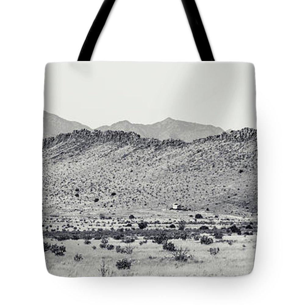 Calisteo Tote Bag featuring the photograph Landscape Galisteo Nm I10p by Otri Park