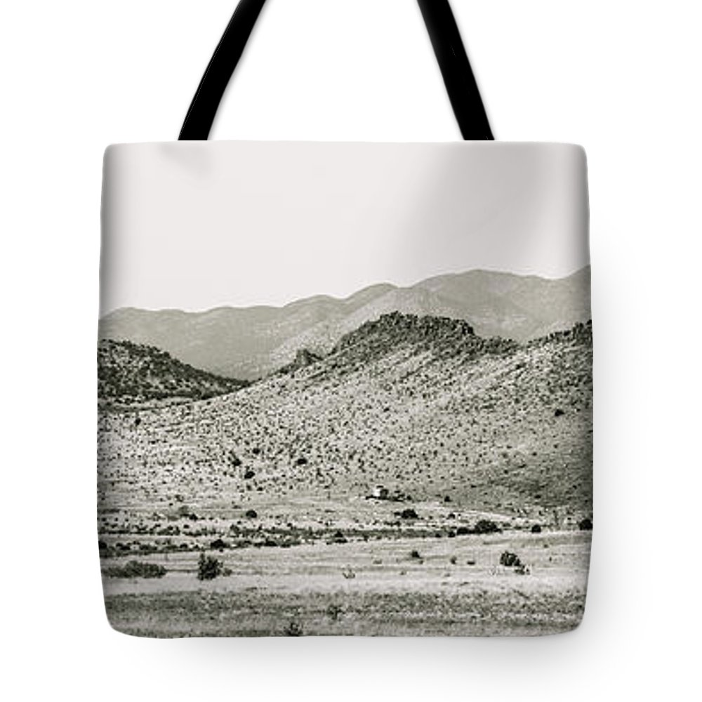 Calisteo Tote Bag featuring the photograph Landscape Galisteo Nm J10b by Otri Park