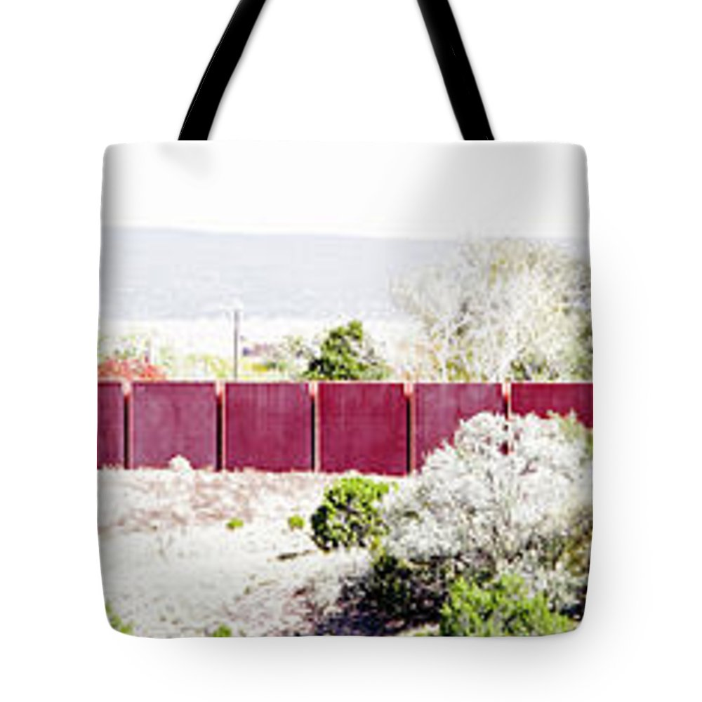 Calisteo Tote Bag featuring the photograph Landscape Galisteo Nm J10m by Otri Park