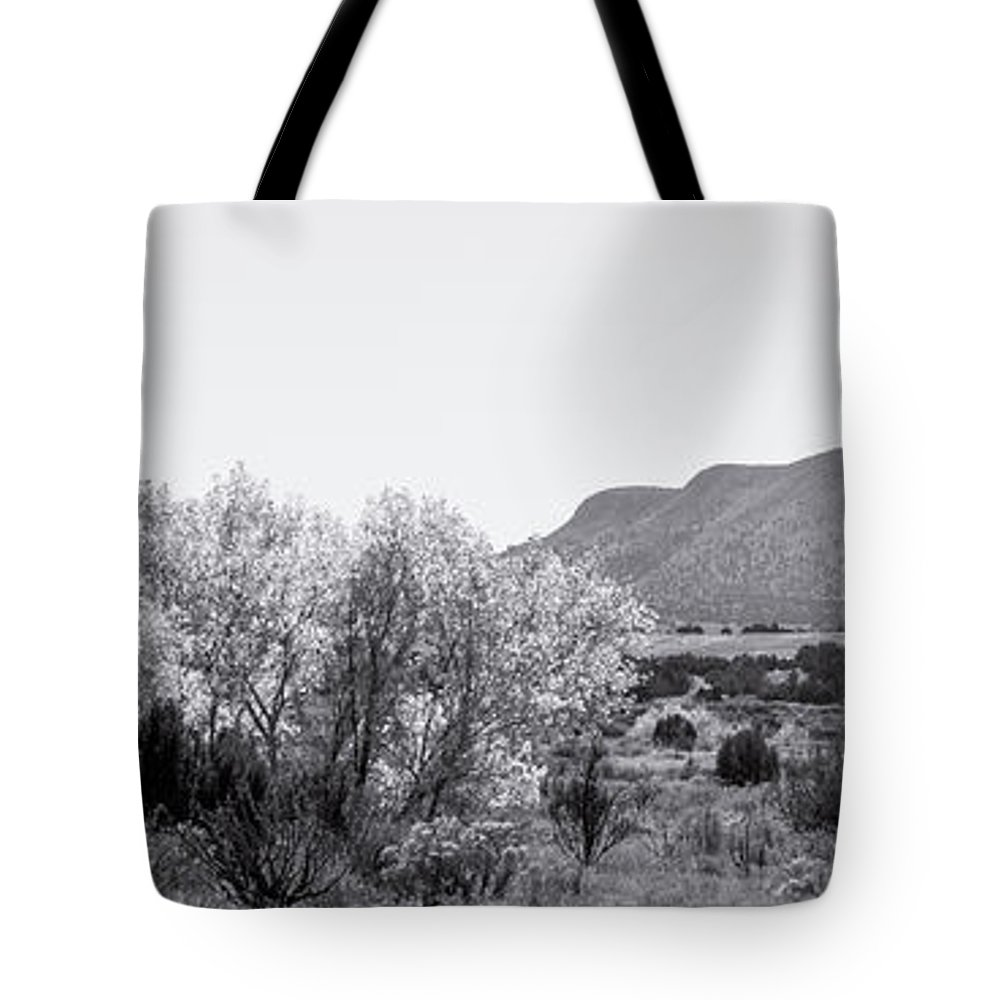 Calisteo Tote Bag featuring the photograph Landscape Galisteo Nm J10p by Otri Park