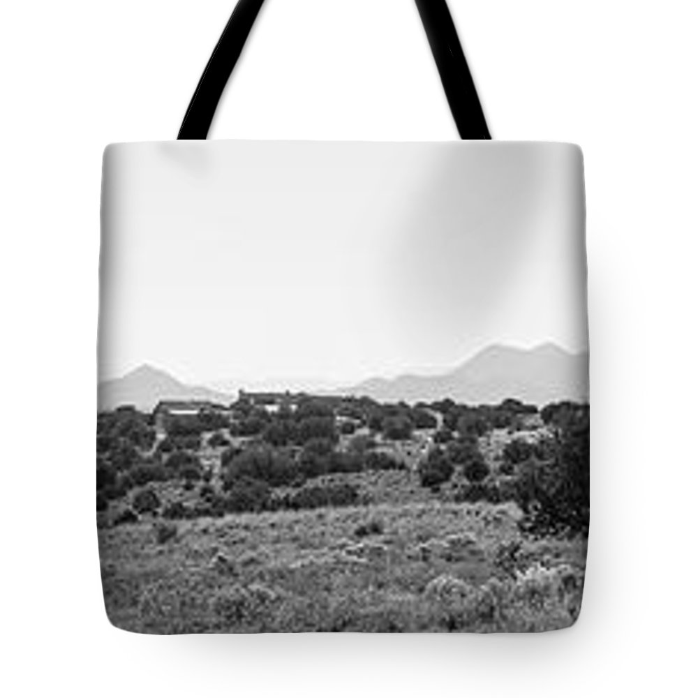 Calisteo Tote Bag featuring the photograph Landscape Galisteo Nm K10i by Otri Park