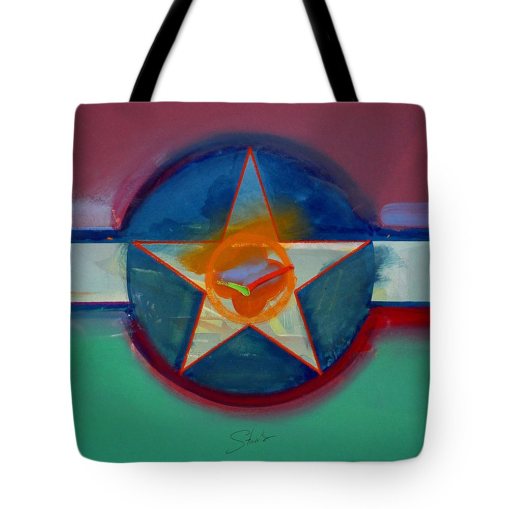 Star Tote Bag featuring the painting Landscape In The Balance by Charles Stuart