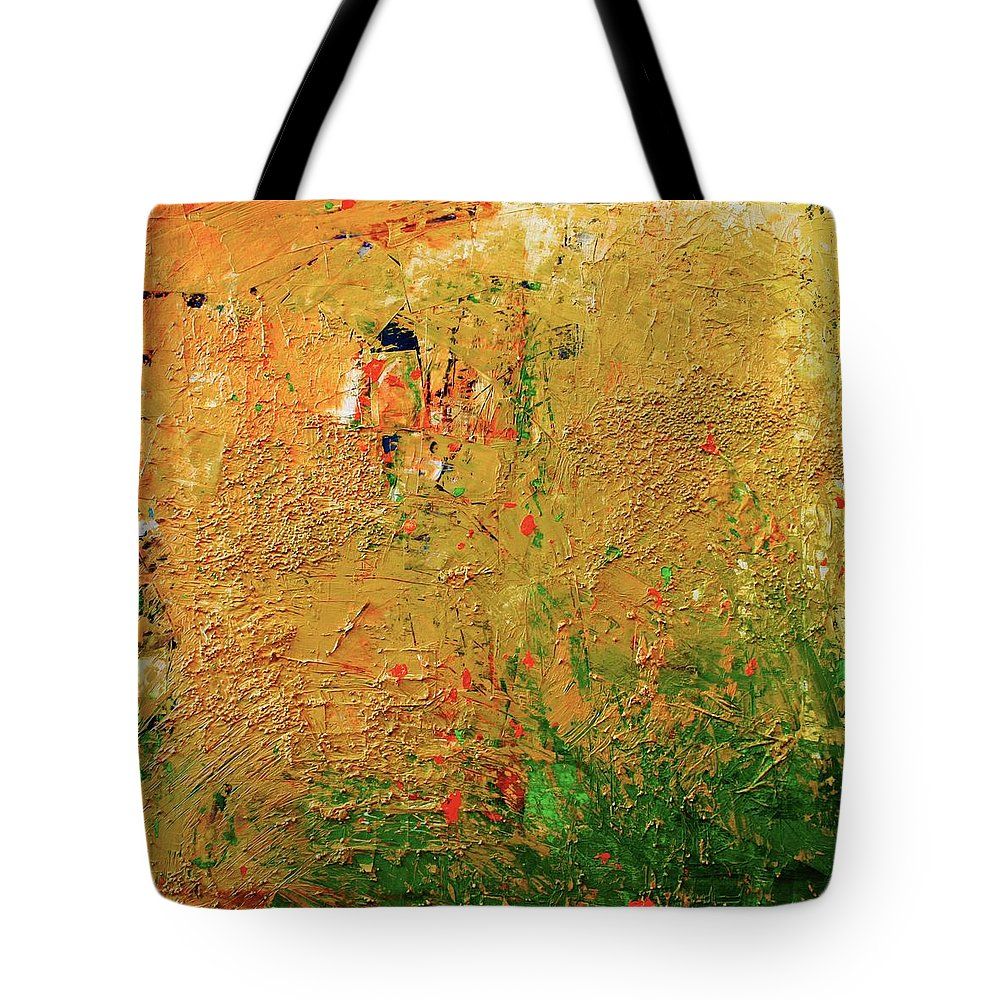 Landschap Tote Bag featuring the painting Landscape by Rick Triest
