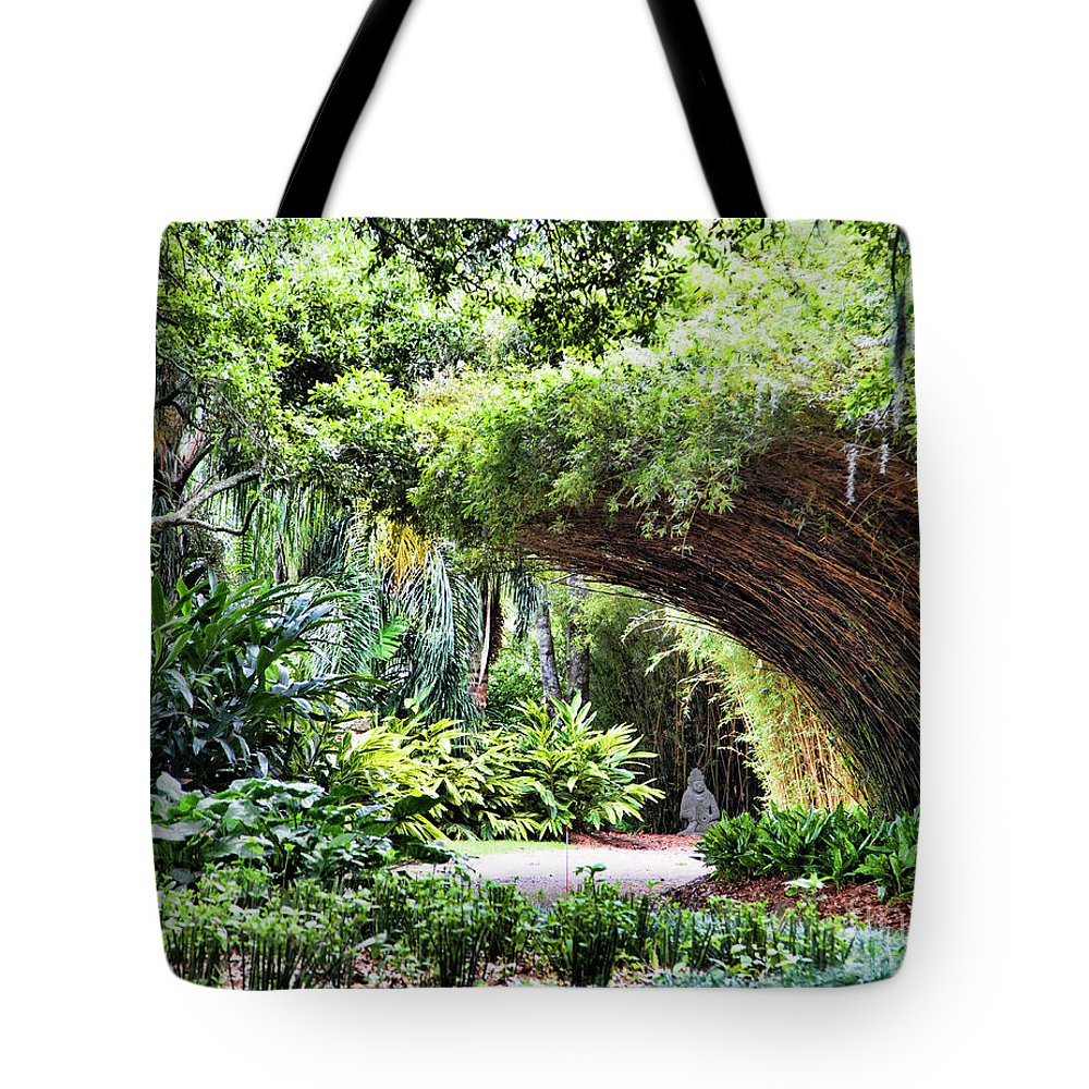 Landscape Tote Bag featuring the photograph Landscape Rip Van Winkle Gardens Louisiana by Chuck Kuhn