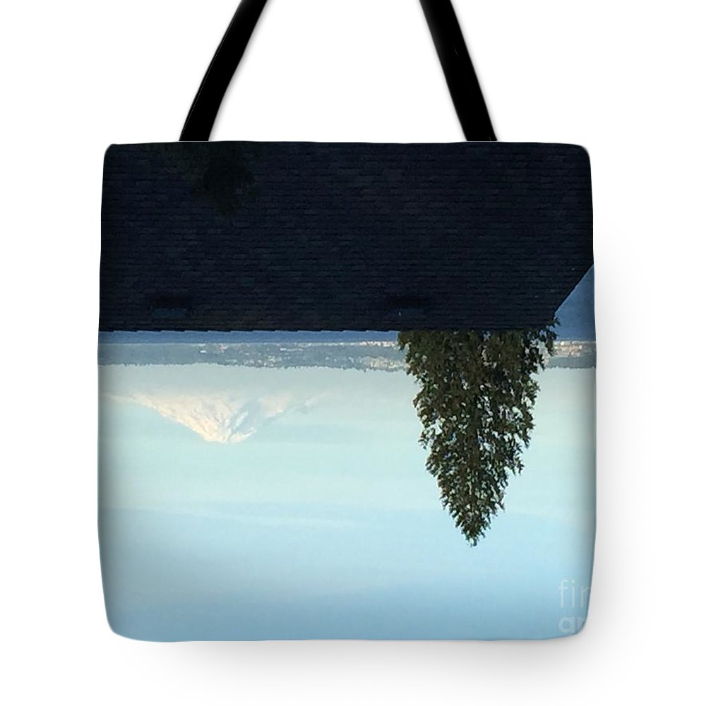 Landscape Tree Mountain Settle Nature Tote Bag featuring the photograph Landscape by Samantha Meguschar