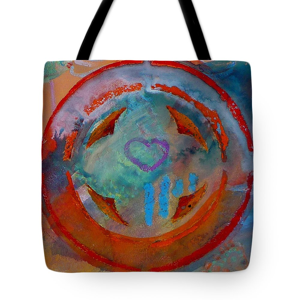 Love Tote Bag featuring the painting Landscape Seascape by Charles Stuart