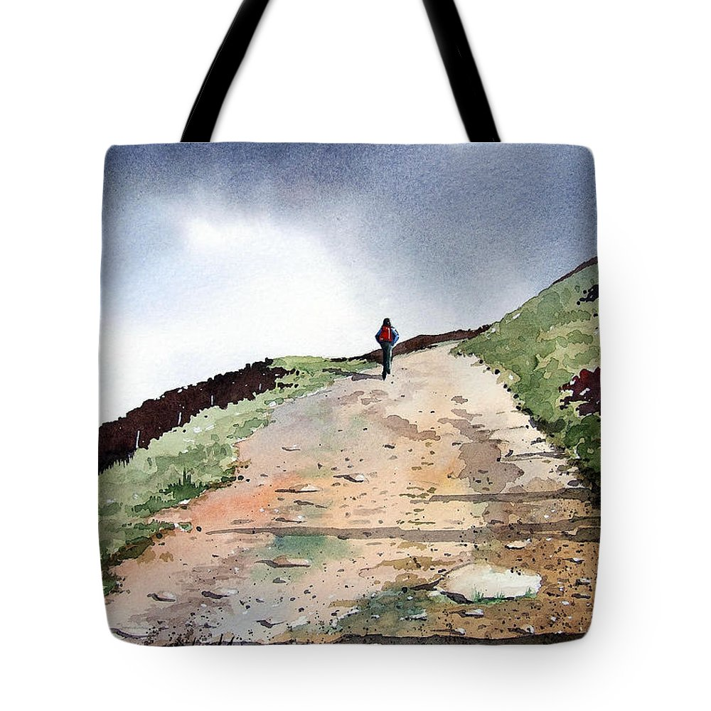 Landscape Tote Bag featuring the painting Lane To Quarry Pole Moor by Paul Dene Marlor