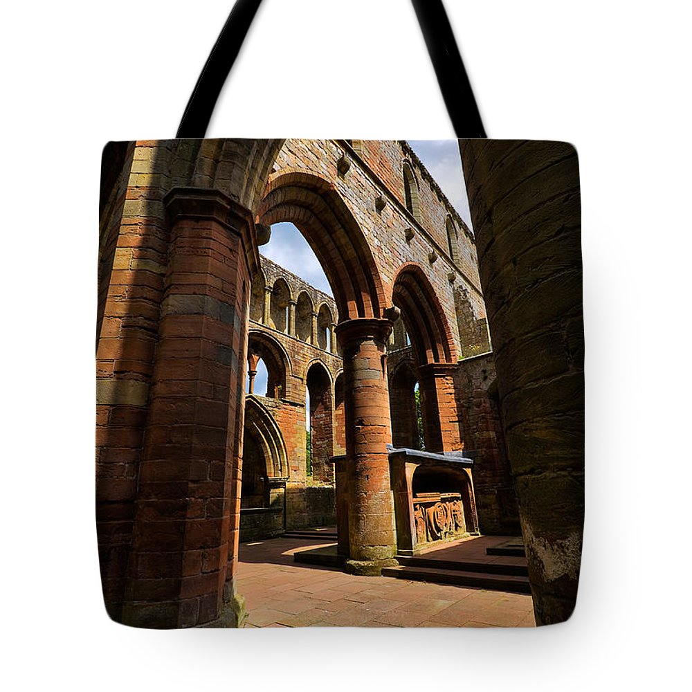 Travel Tote Bag featuring the photograph Lanercost Priory by Louise Heusinkveld