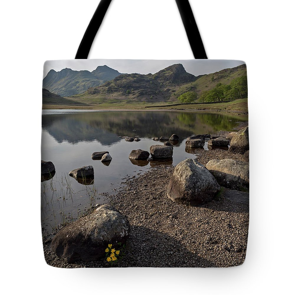 Blea Tarn Tote Bag featuring the photograph Langdale Pikes And Blea Tarn by Derek Beattie
