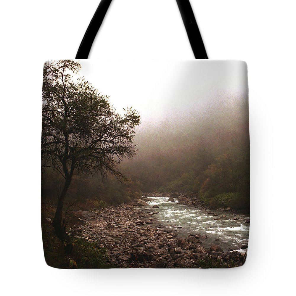 Tree Tote Bag featuring the photograph Langtang Morning by Patrick Klauss