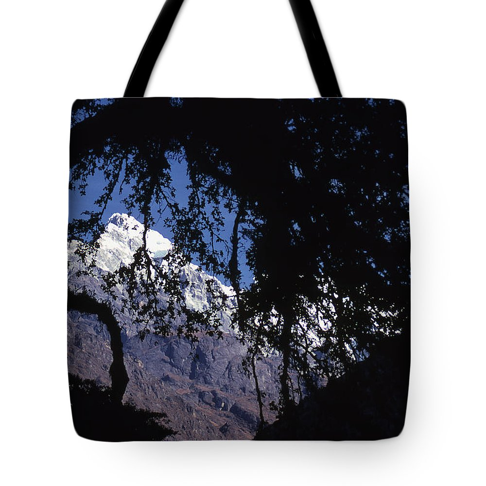 Langtang Tote Bag featuring the photograph Langtang by Patrick Klauss