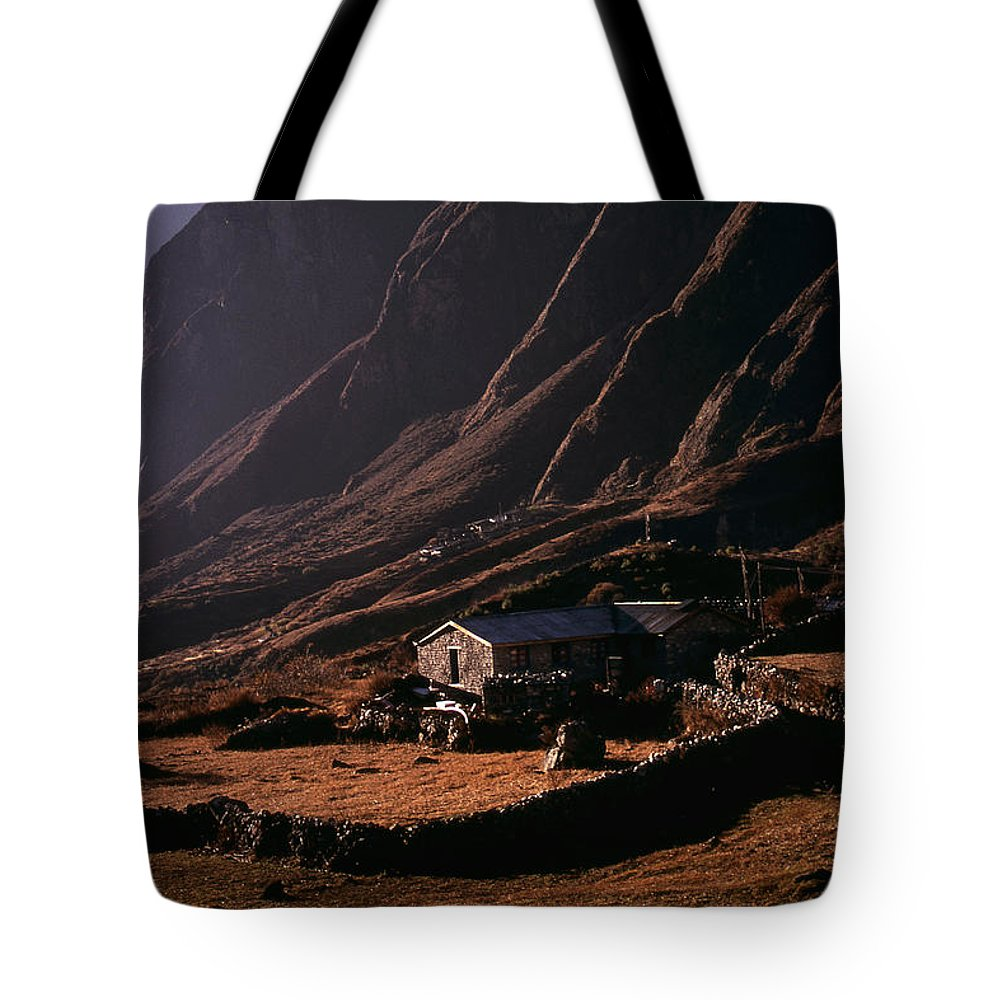 Langtang Tote Bag featuring the photograph Langtang Village by Patrick Klauss