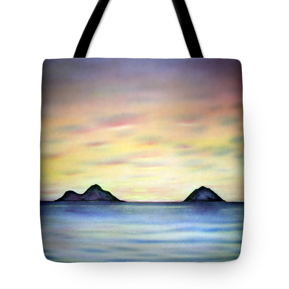 Lanikai Tote Bag featuring the painting Lanikai Dawn by Kevin Smith