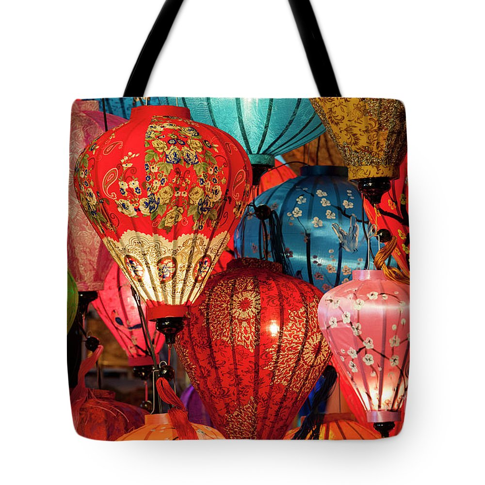 Hoi An Tote Bag featuring the photograph Lanterns by Timm Chapman