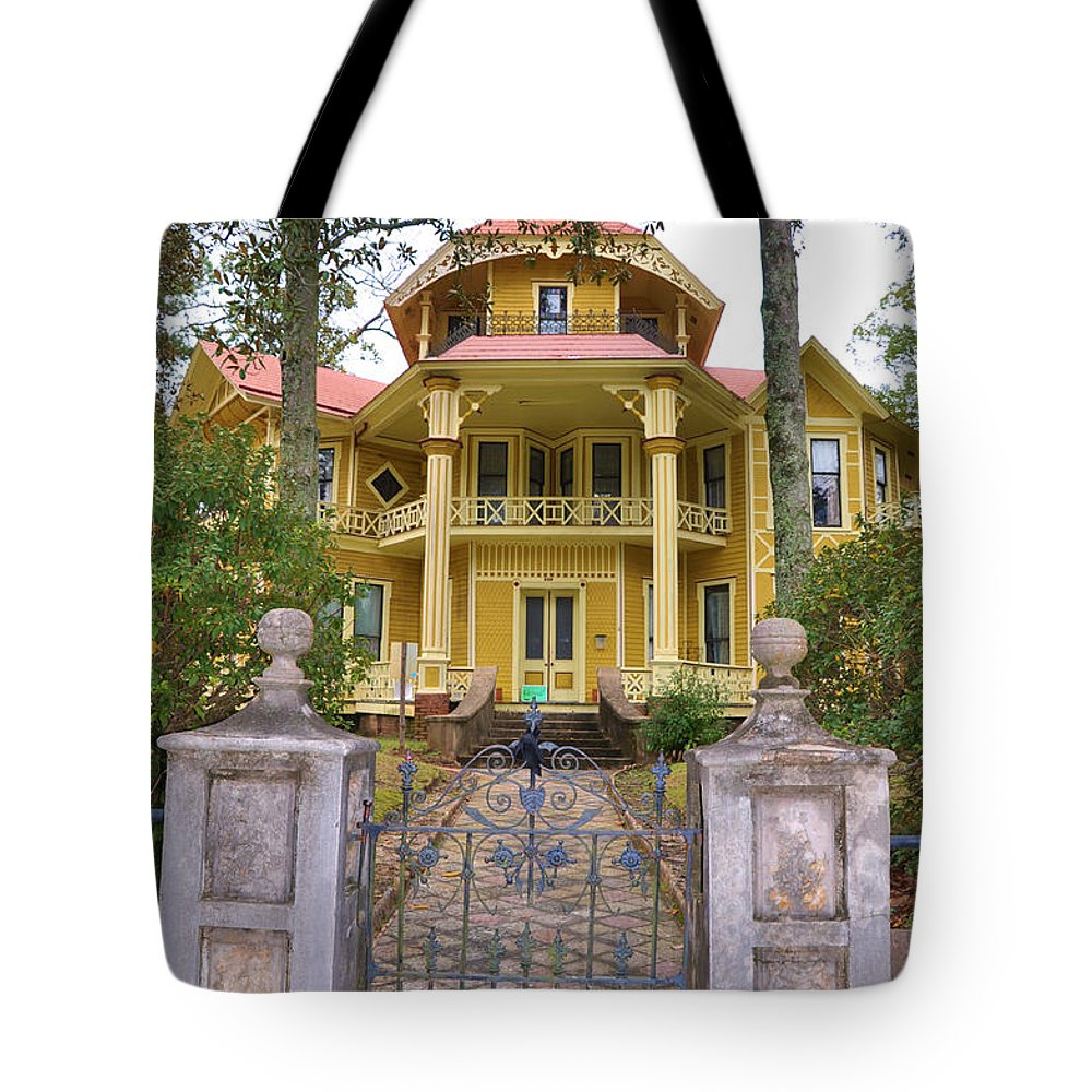 Architectural Tote Bag featuring the photograph Lapham-patterson House by Jan Amiss Photography