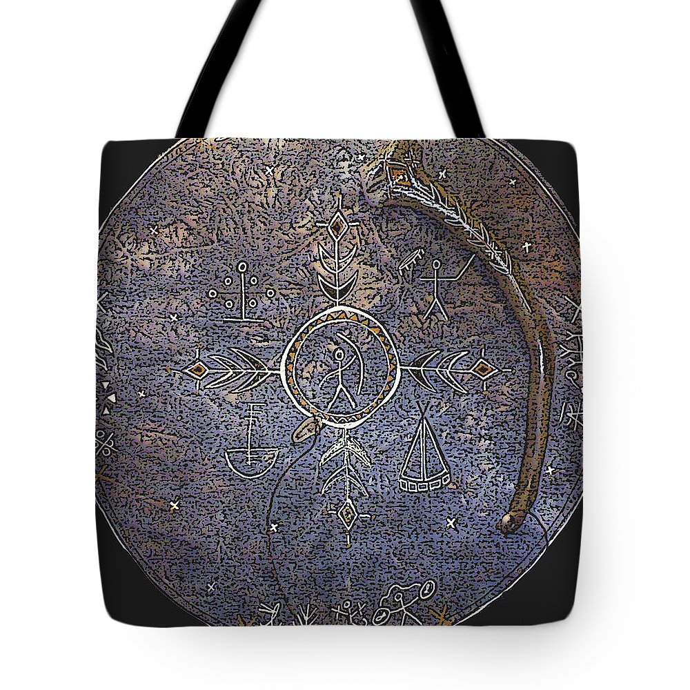Lapland Tote Bag featuring the photograph Lapland Shaman Drum by Merja Waters