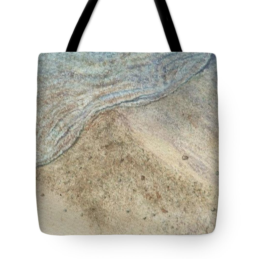 Watercolor Tote Bag featuring the painting Lapping. Gentle Wavelet Caressing The Shore. by Lynn ACourt