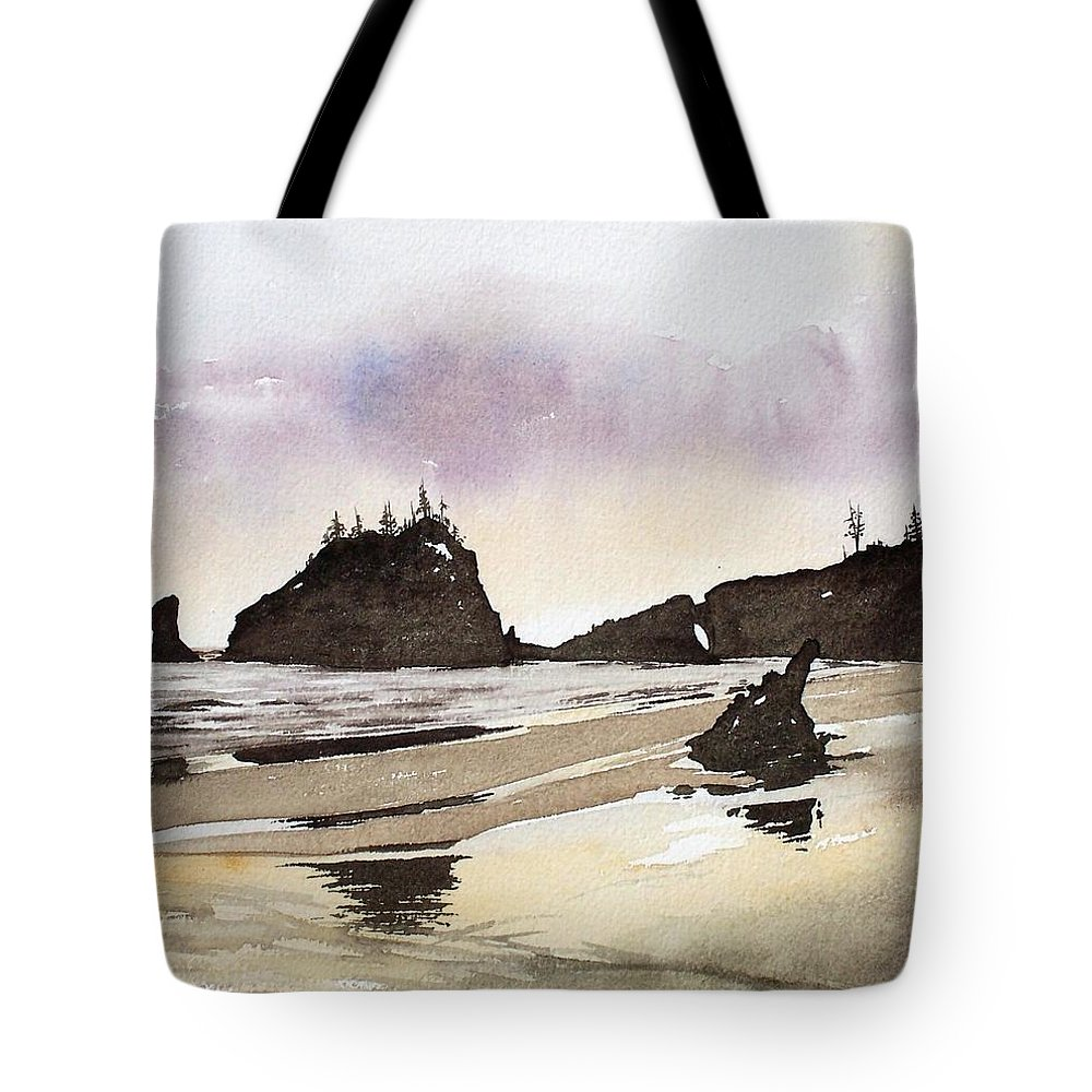 Washington Tote Bag featuring the painting Lapush by Gale Cochran-Smith