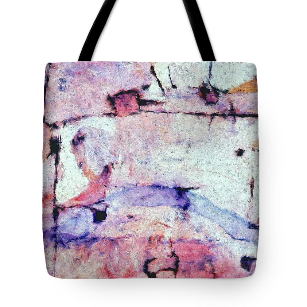 Abstract Tote Bag featuring the painting Laredo by Dominic Piperata