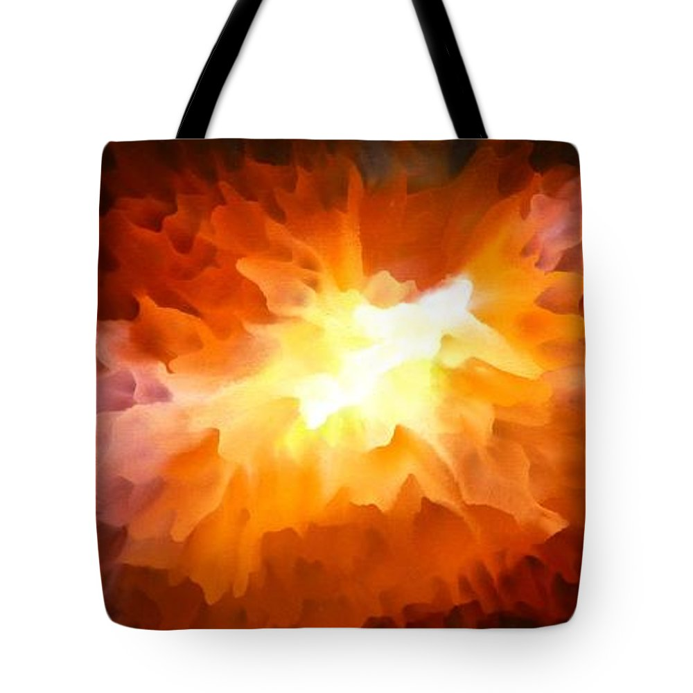 Abstract Art Tote Bag featuring the painting Large Abstract Art Painting by Tara Baden