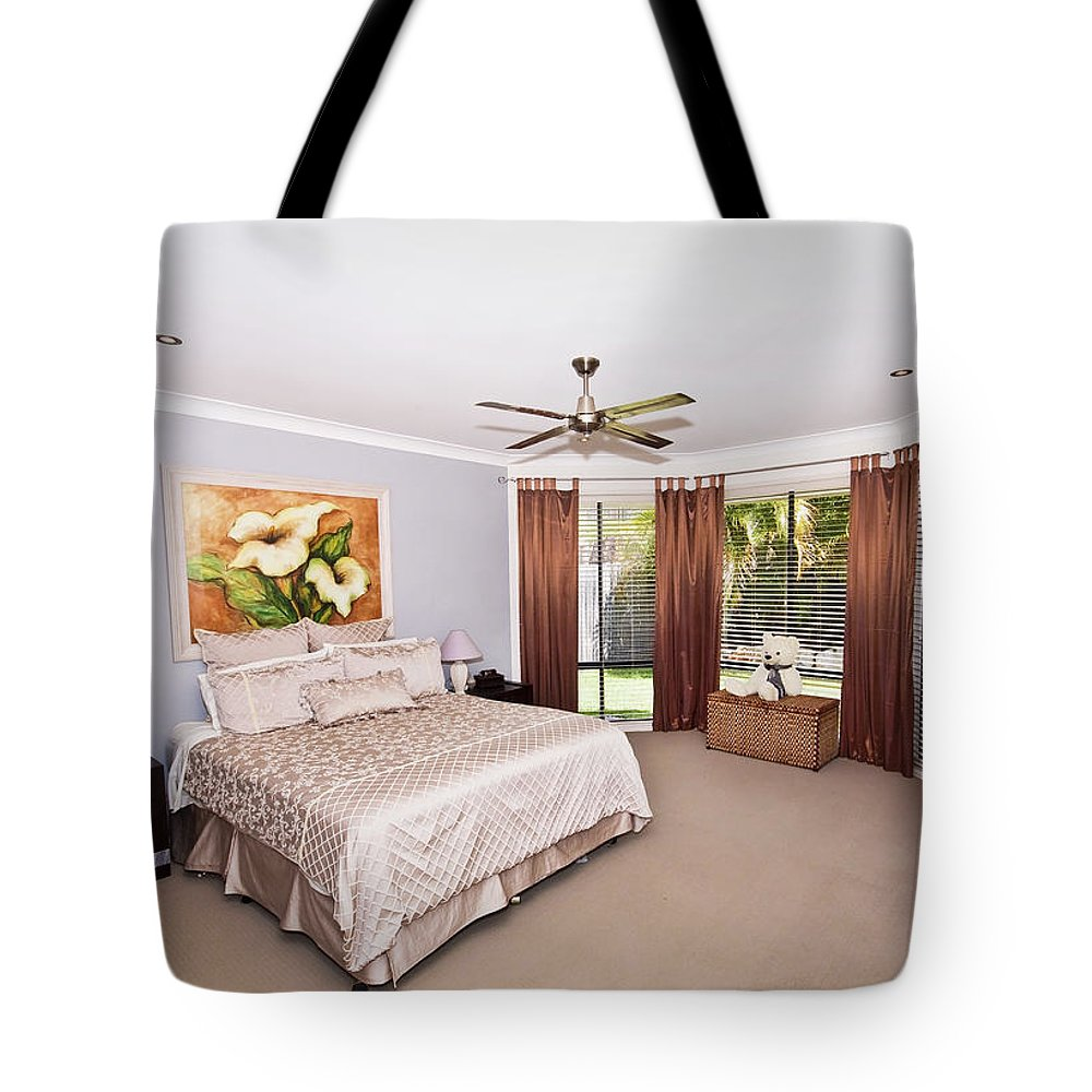 Large Tote Bag featuring the photograph Large Bedroom by Darren Burton