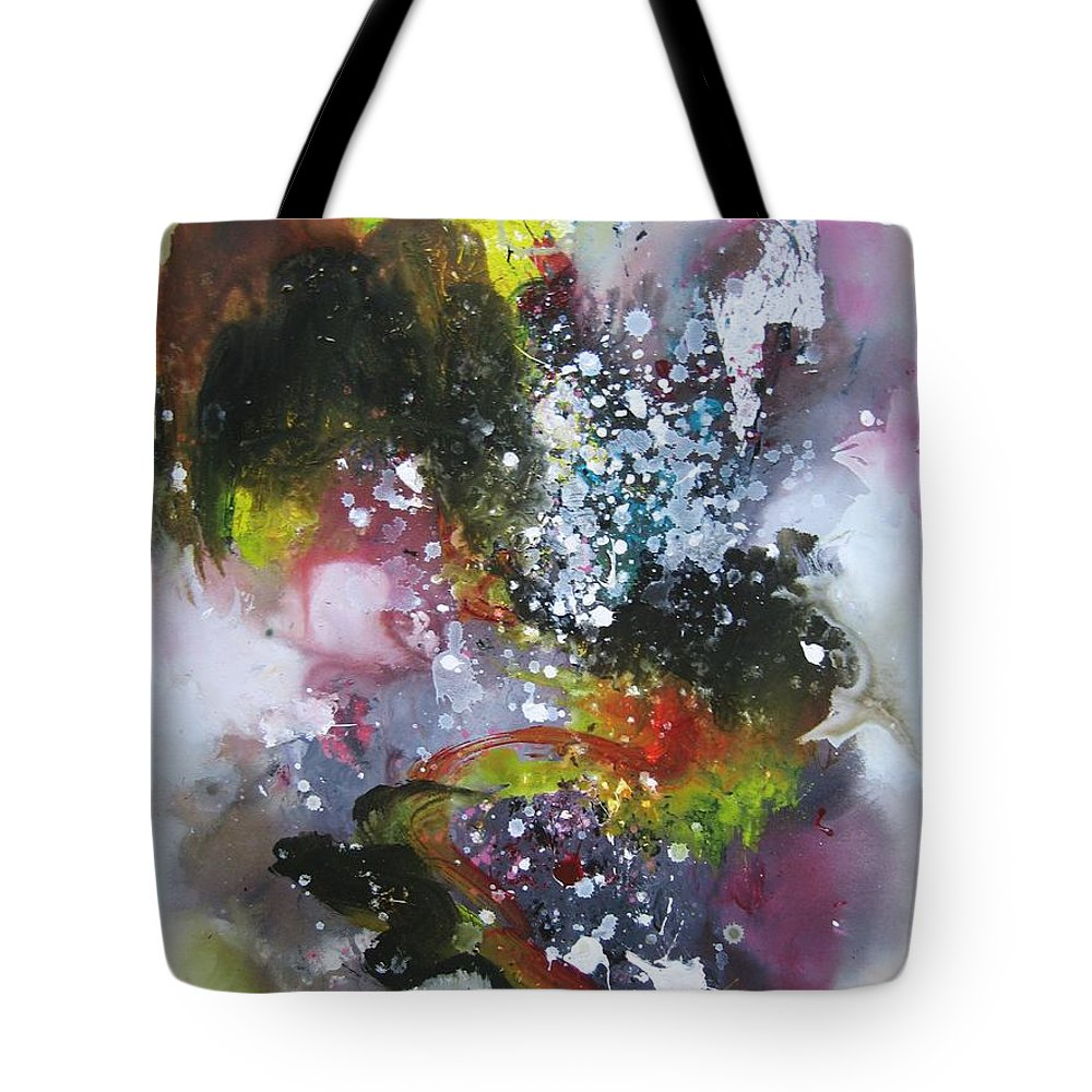 Large Art Tote Bag featuring the painting Large Color Fever Art23 by Seon-Jeong Kim