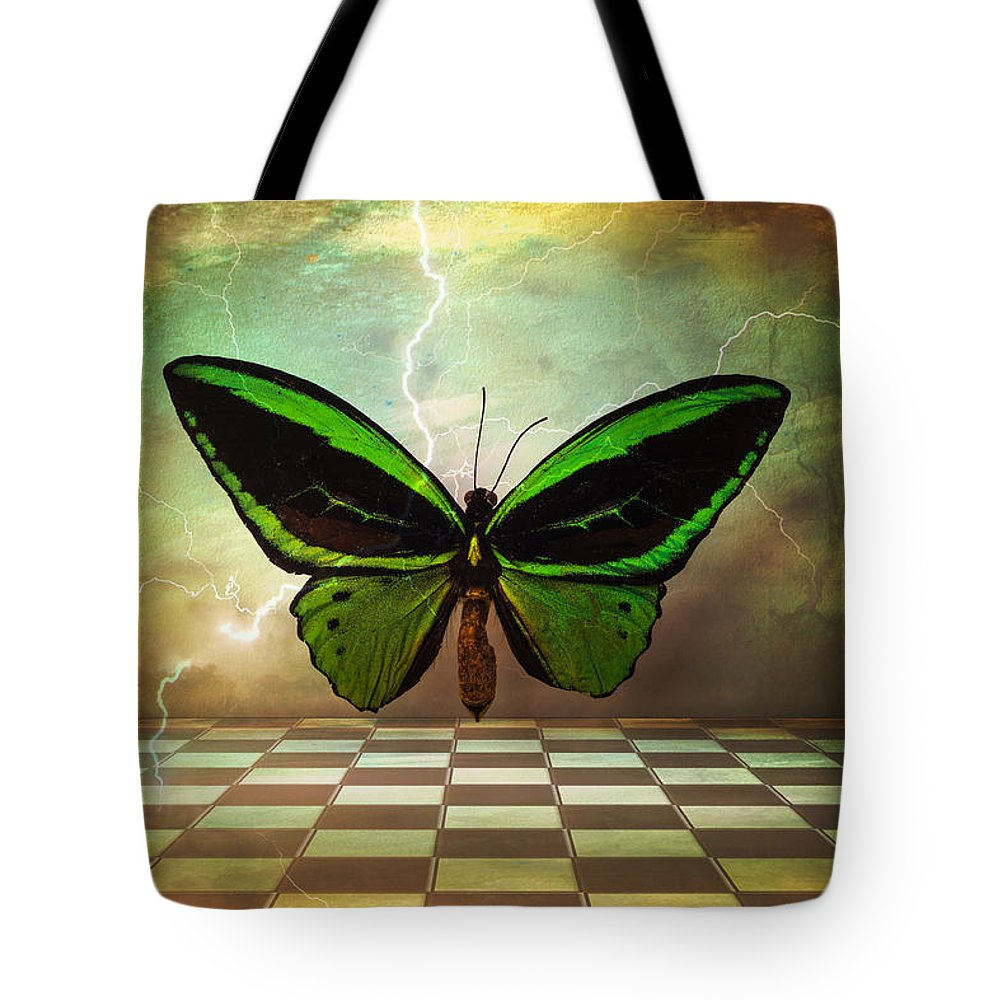 Still Life Tote Bag featuring the photograph Large Green Wings by Garry Gay